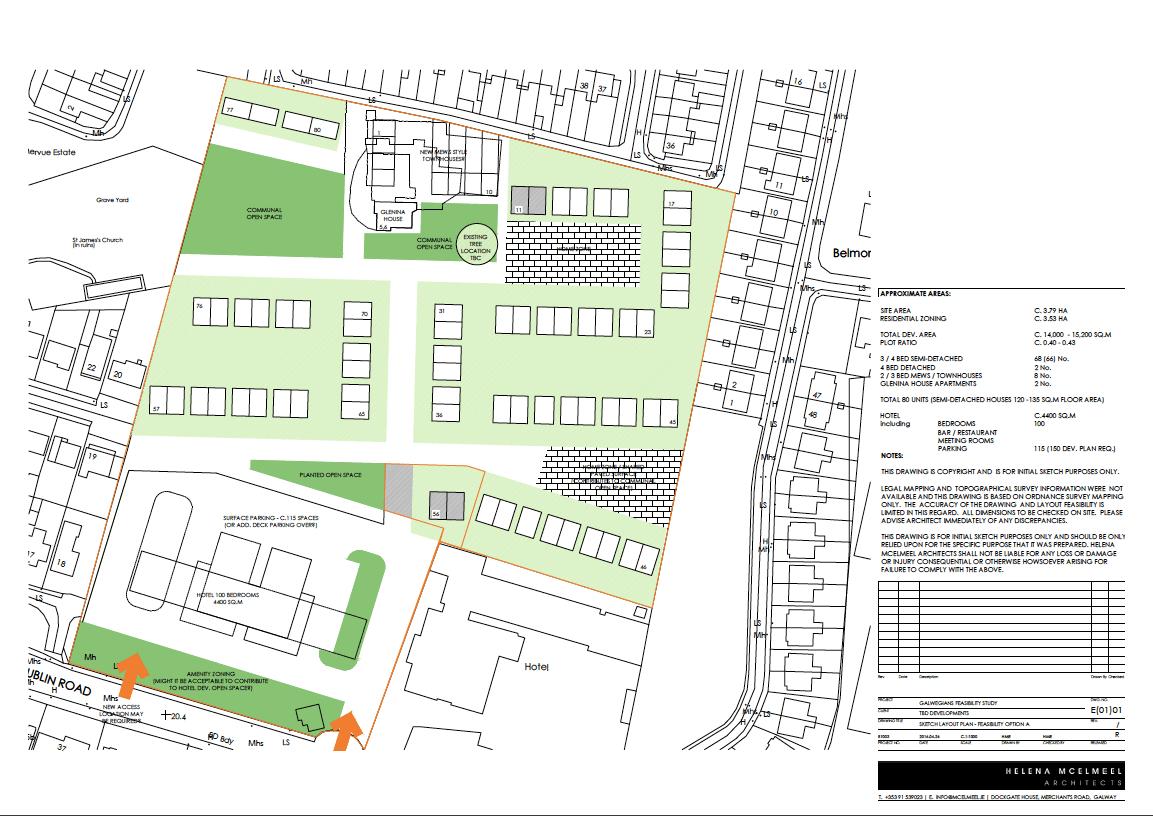 Glenina Arch drawing site plan